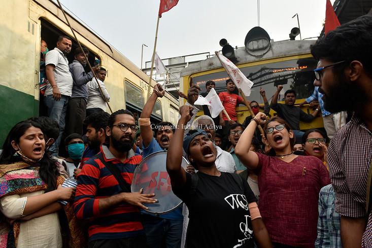 Rail Roko Strike In Kolkata