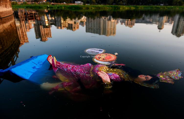 Reflection Of Laxmi Goddess In Mumbai