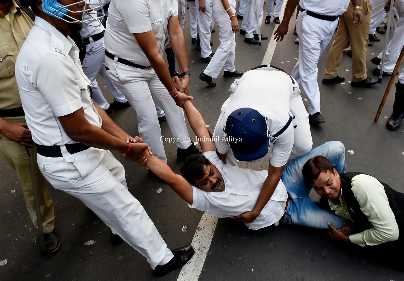 Protest In Kolkata Against CAB