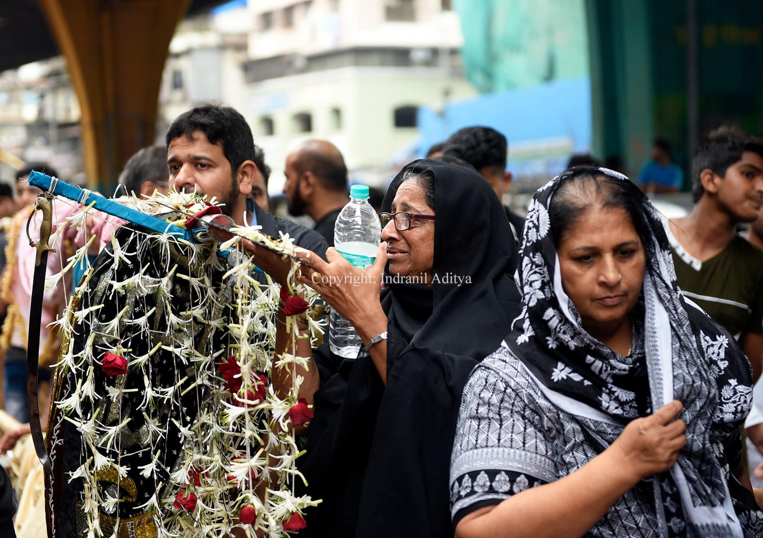 A woman mourns during Muharram