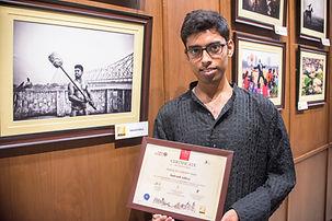 Exhibited his Kushti Image at Hotel ITC Sonar