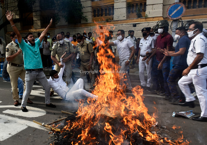Protest Against Fuel Hike Price In India