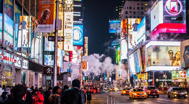Foto von New York bei Nacht