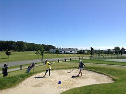 junior golf camp 2 bunker practice on co