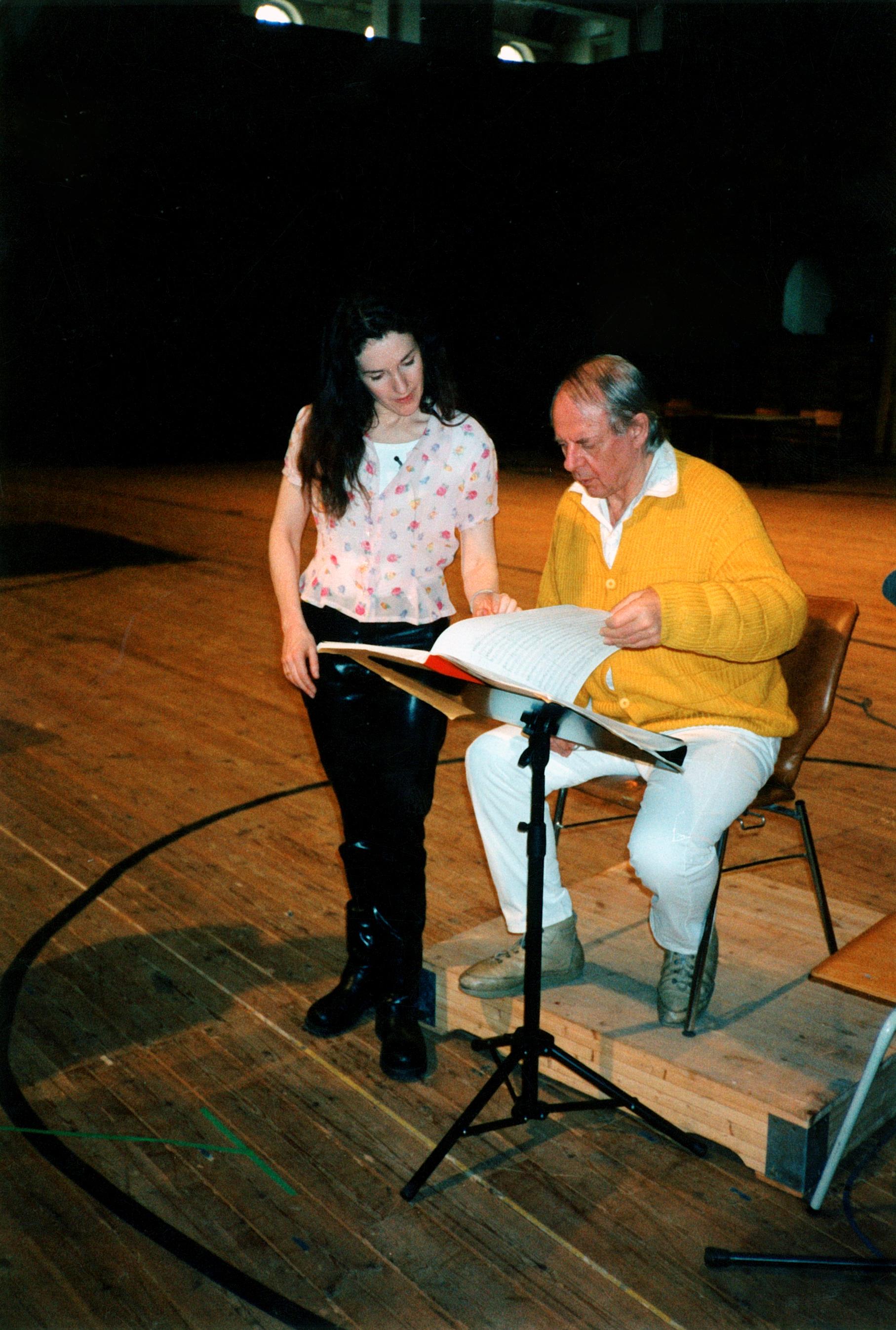 Angela with Stockhausen