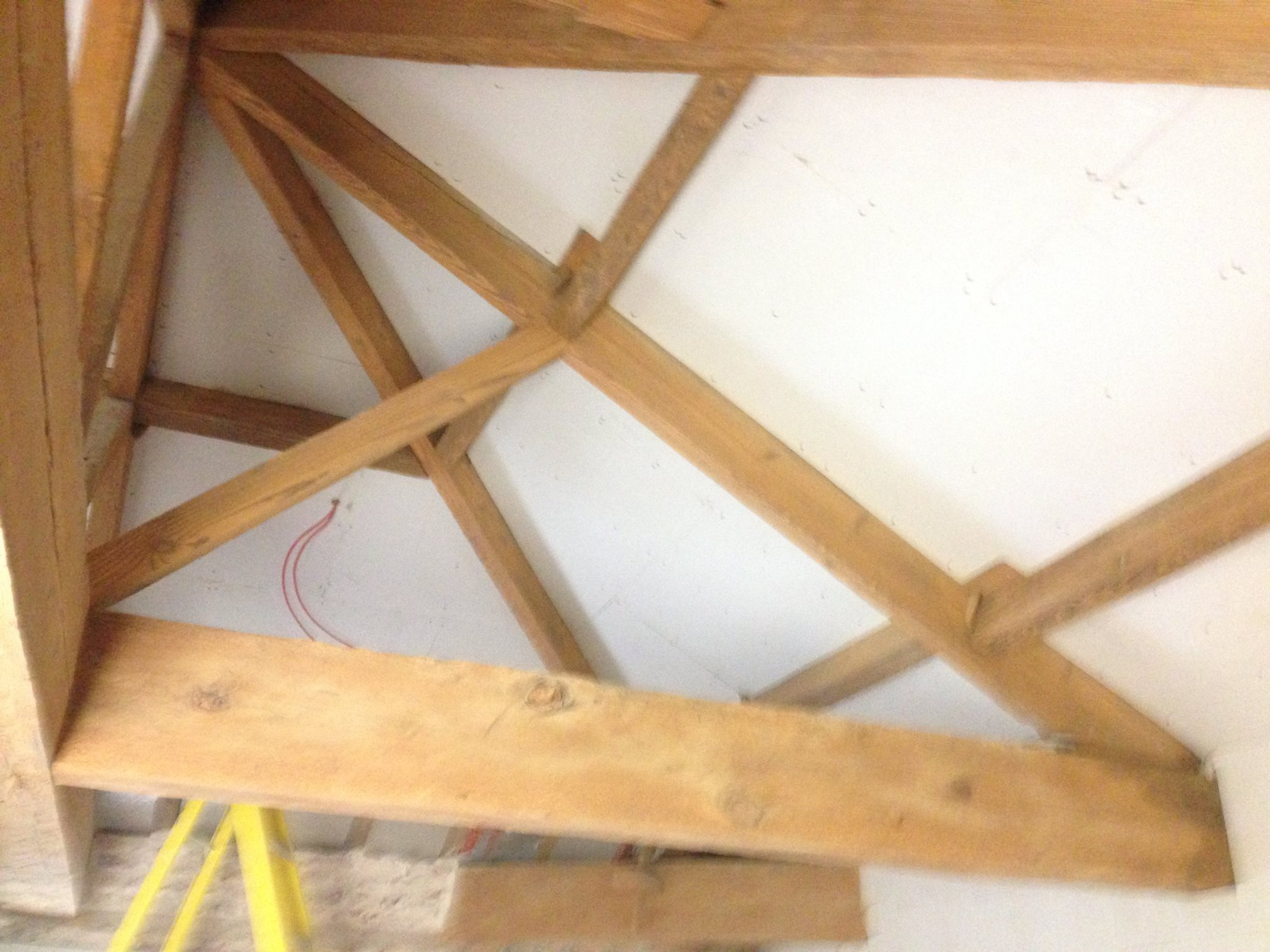 Wooden beams restored