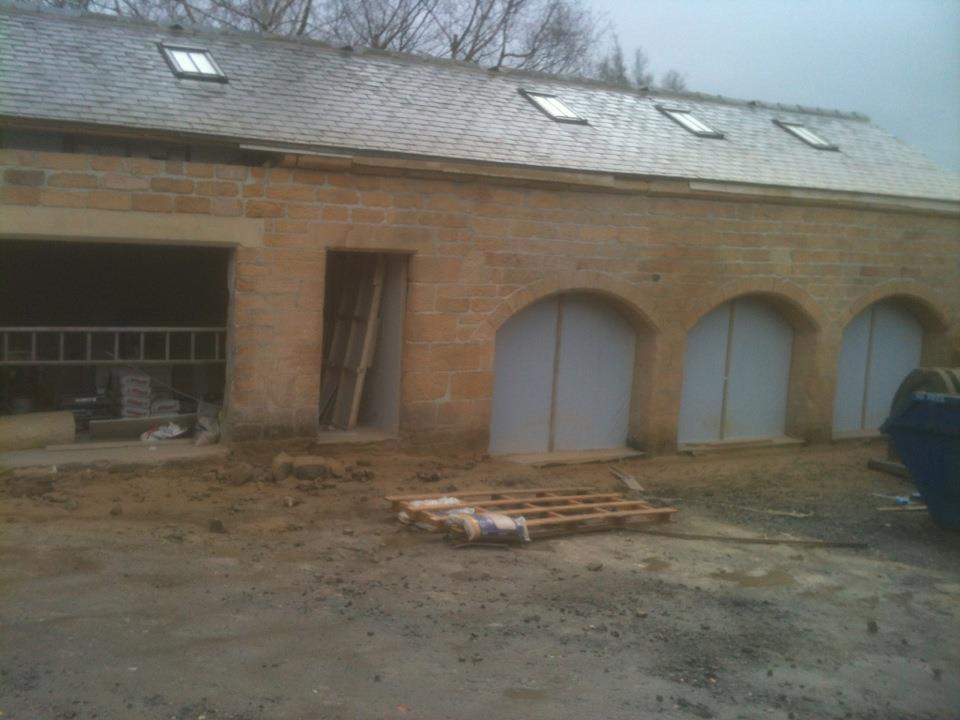 Pig sheds finished