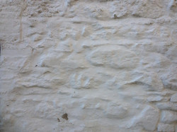 Heavily painted stonework