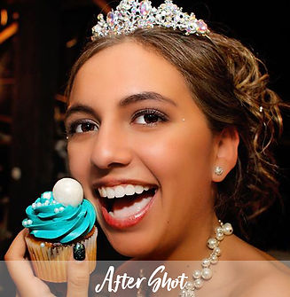 "Fort Myers photographer Mark Schoenfelt captures an ""after"" shot of a young bride eating a cupcake."