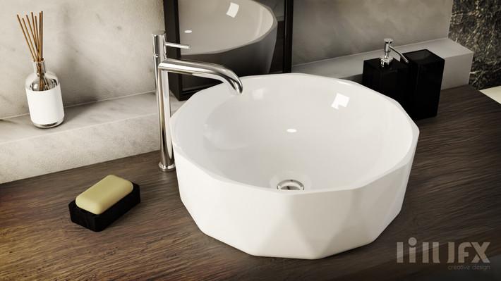 """Wizualizacja umywalki """"w terenie"""" :)"""