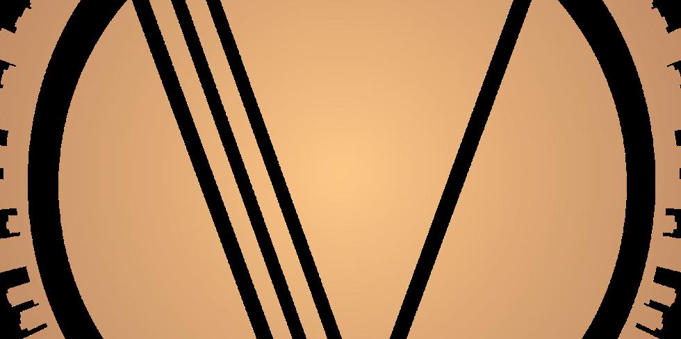 Villa Title Logo similar to a sun in gold.