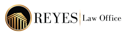 Reyes Law Office Logo Black and Gold