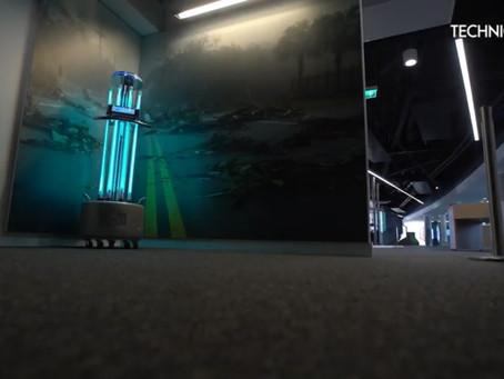 Evolve Raybotix UV-C Disinfection Robots at Techniquest