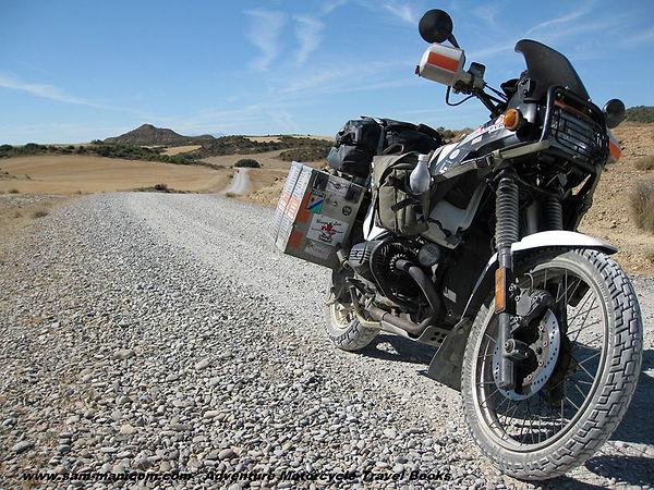 Sam Manicom travellin on Gravel Roads in the Pyrenees