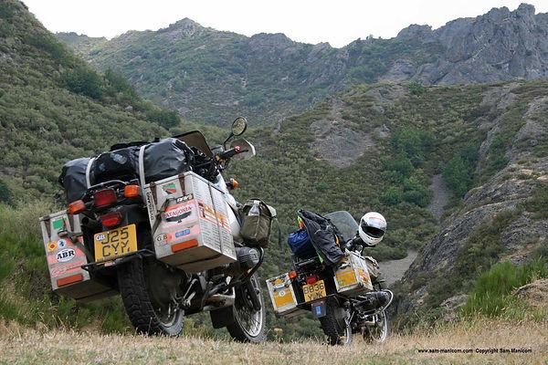 Sam Manicom motorcycling in France