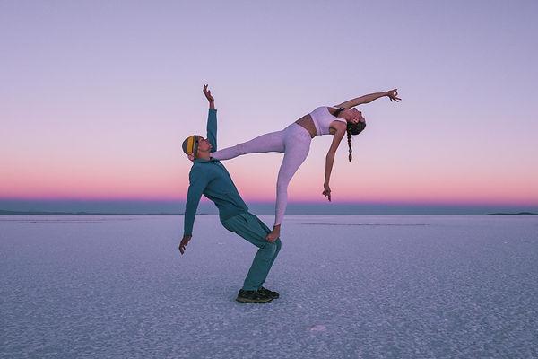 Esprit Outdoors posing on a Salt Lake