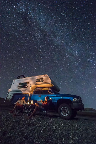 Esprit Outdoors Set Up Camp for th night in Baja
