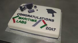 Graduation Half-slab Fondant Cake (2).jp