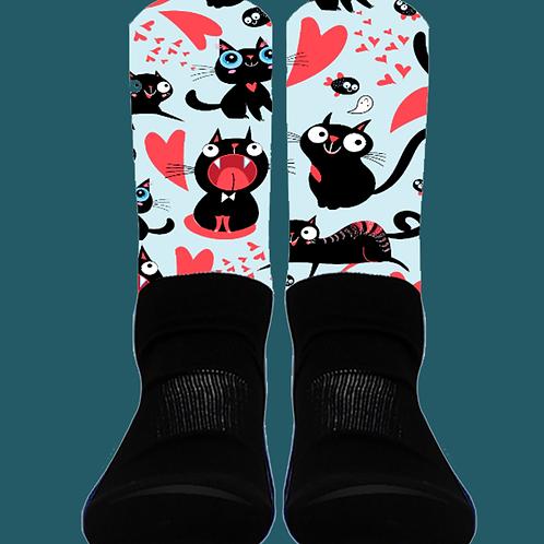 Cats and Hearts - Crew Socks