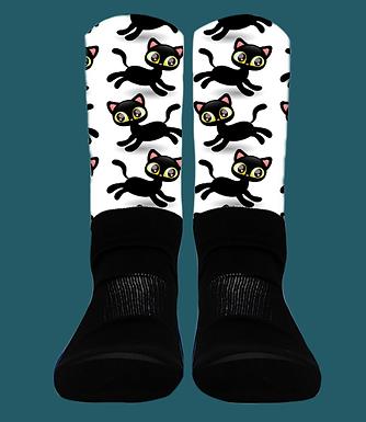 Black Cats - Crew Socks