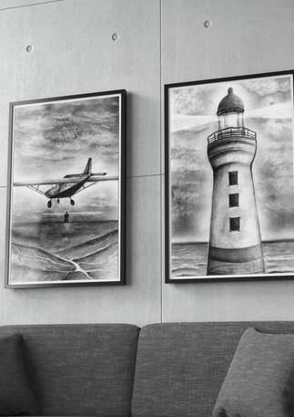 דינה דצקובסקי | רישום | המגדלור והמטוס