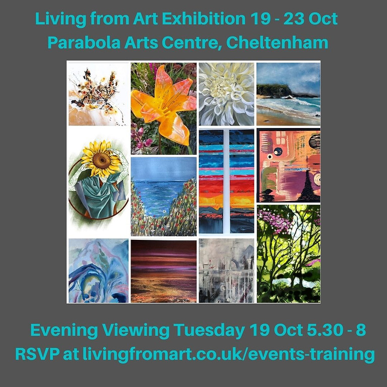 Living from Art Exhibition Evening Viewing