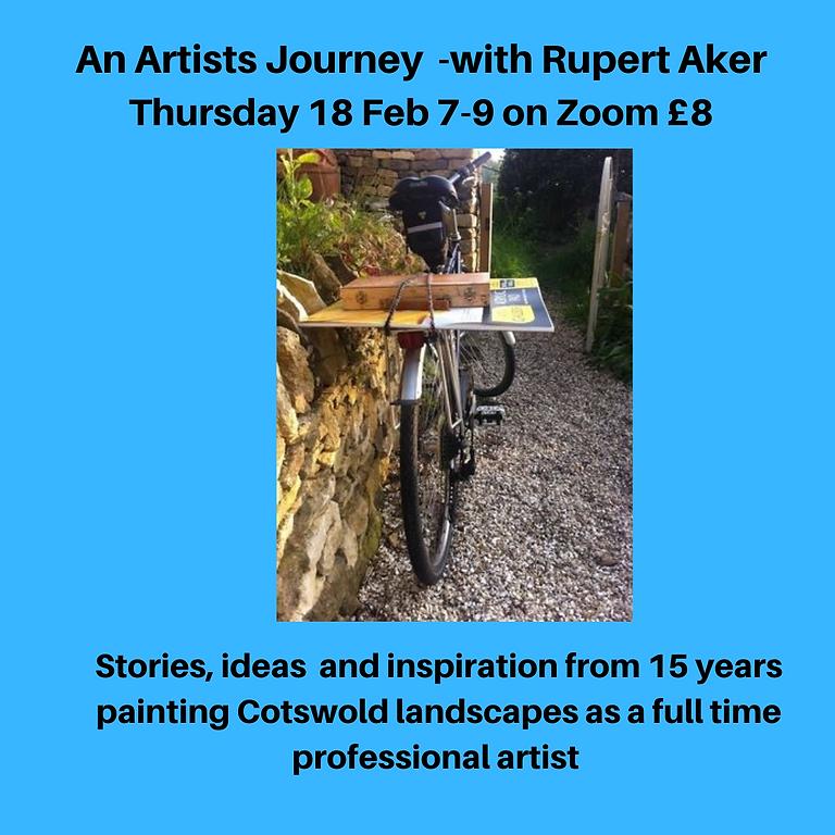 Living from Art February meeting: Rupert Aker: an Artist's Journey