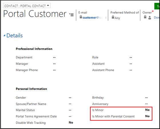 Microsoft Updates Dynamics 365 Portals - GDPR Compliant