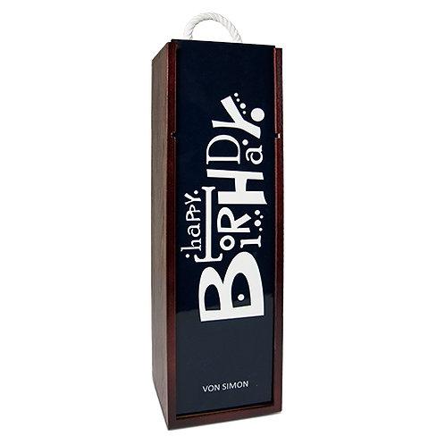 Holzkiste für Flaschenpräsente