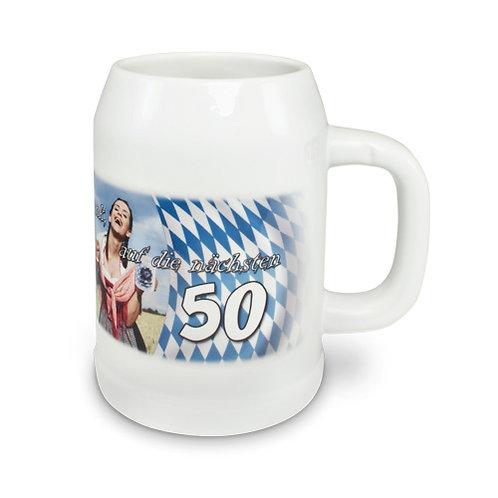 Bierkrug Upper Class RADLER 500 ml, Farbe Weiß ohne Deckel