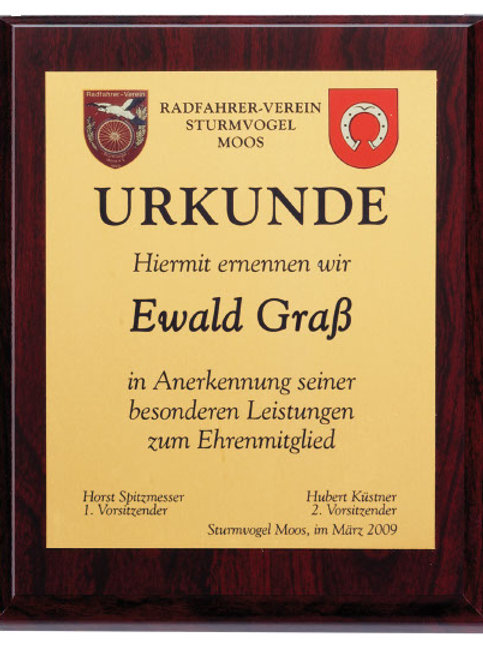 Holztafel rot-gemasert, div. Größen