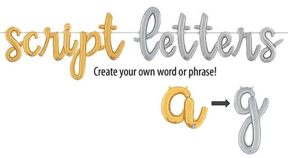 Script Letters a - g