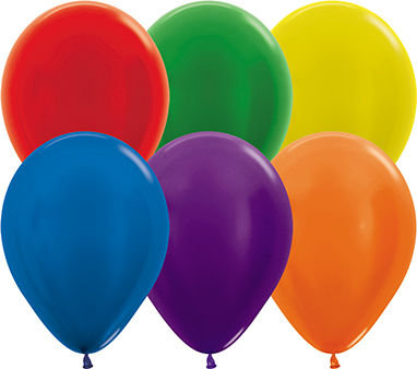 "Metallic 11"" Latex Balloons"