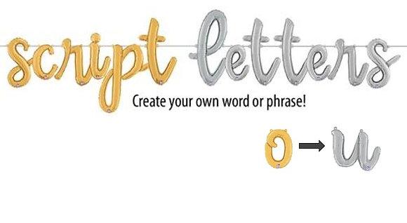 Script Letters o - u