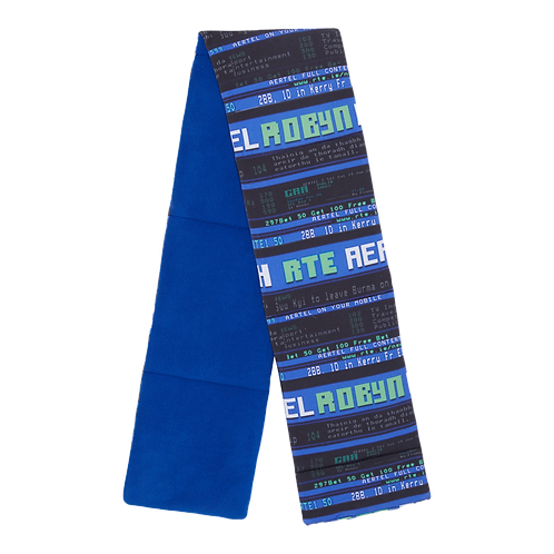 COTTON AND FLEECE TELETEXT SCARF