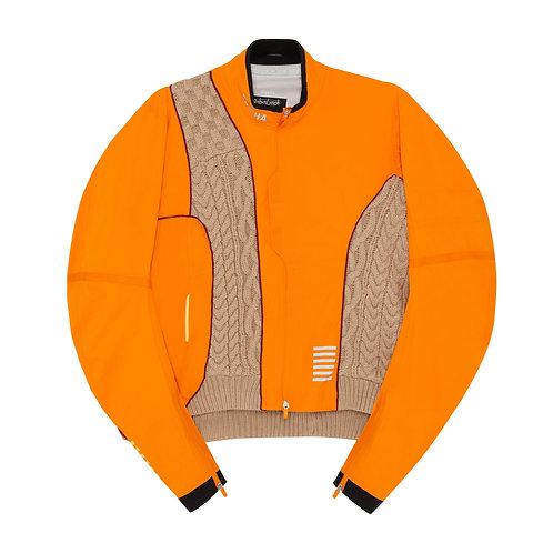 Orange hybrid zip up jacket Size M