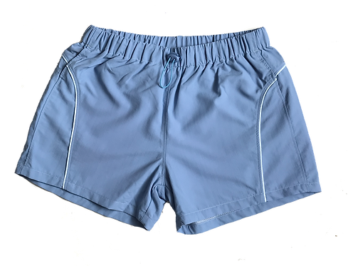 BLUE NYLON SHORT SHORTS