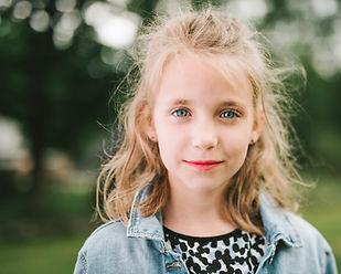 Child in Ortho-K lenses