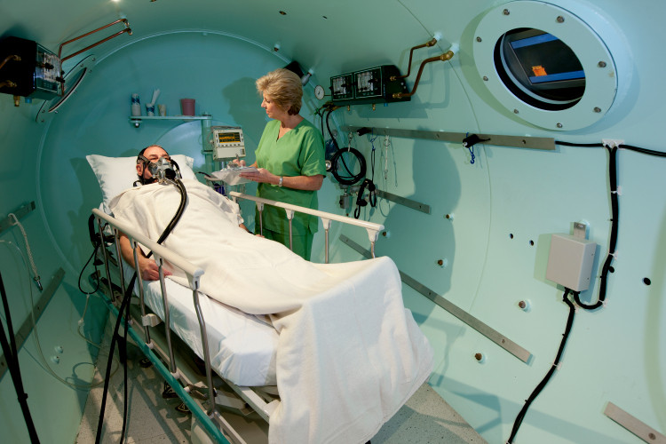 Hyperbaric oxygen therapy is being tested with to cure covid-19 patients