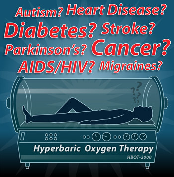 hyperbaric oxygen therapy for autism, heart disease, diabetes, stroke, parkinsons, cancer, aids/hiv, migraines