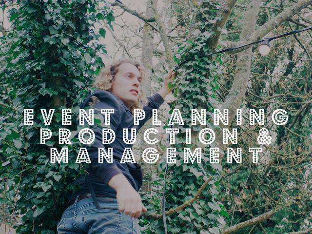 Event Planning, Production & Management