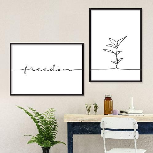 FREEDOM זוג הדפסים