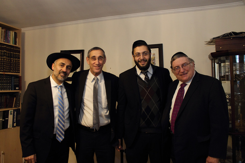 Rabbi Ephraim Rubinov, Rabbi Garber, Yaniv Meirov, Rabbi Paysach Krohn at Our Jewish Children Event