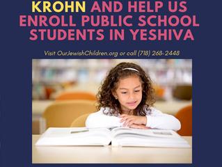 Rabbi Paysach Krohn to speak on Tuesday, Jan. 15 for Our Jewish Children