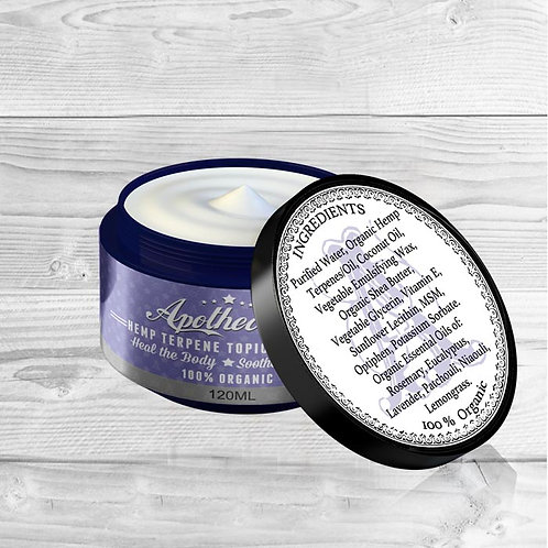 Apothecary Naturals Topical Cream - Lavender Scent - 120mL Jar
