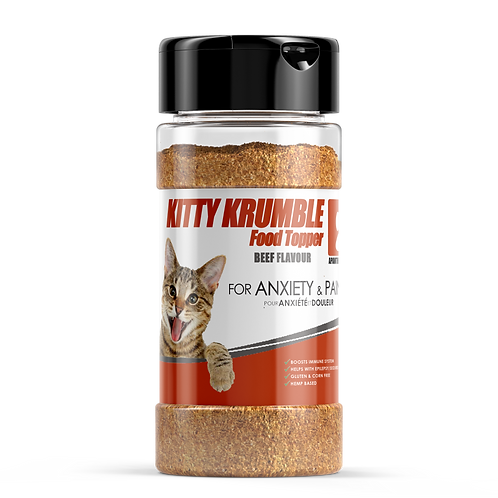 KITTY KRUMBLE FOOD TOPPER - Beef Flavour -170g
