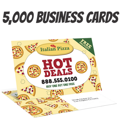 5000 Full Color Double Sided Business Card