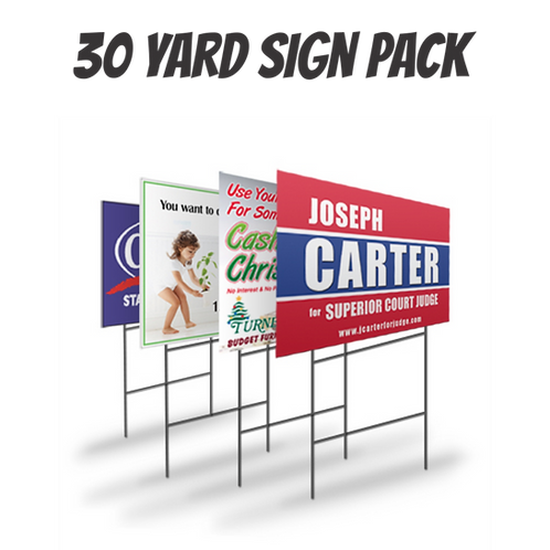 Pack of 30 Yard Signs