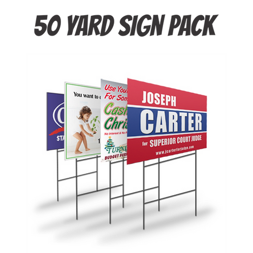 Pack of 50 Yard Signs