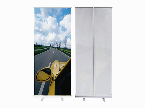 Standard Silver Retractable Banner
